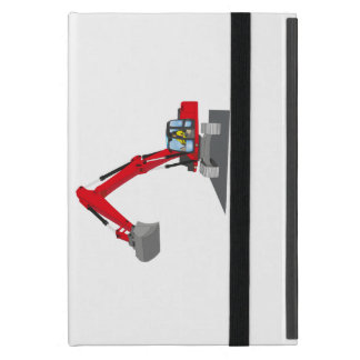 red chain excavator iPad mini cover