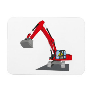 red chain excavator magnet