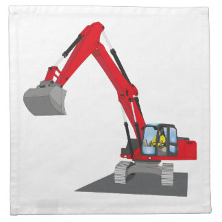 red chain excavator napkin