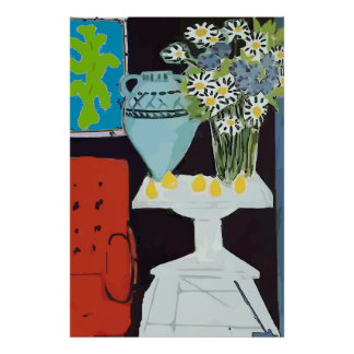 Red Chair, Matisse Style Poster