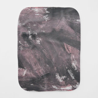 Red Chalk and Black Ink Burp Cloth