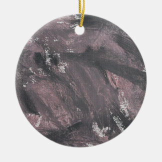 Red Chalk and Black Ink Ceramic Ornament