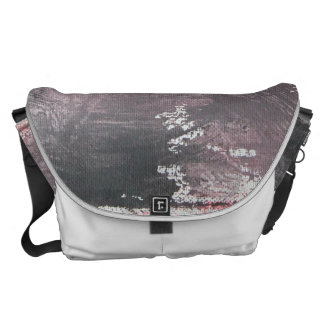 Red Chalk and Black Ink Courier Bag