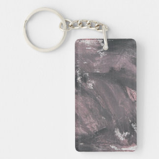 Red Chalk and Black Ink Double-Sided Rectangular Acrylic Keychain