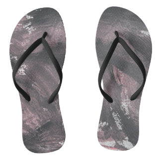 Red Chalk and Black Ink Flip Flops