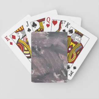 Red Chalk and Black Ink Playing Cards