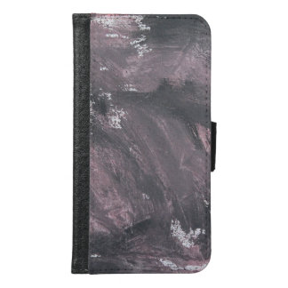 Red Chalk and Black Ink Samsung Galaxy S6 Wallet Case