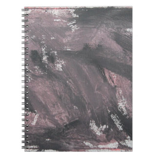 Red Chalk and Black Ink Spiral Notebook