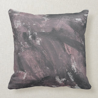 Red Chalk and Black Ink Throw Pillow