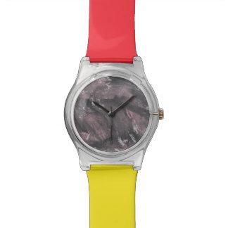 Red Chalk and Black Ink Wrist Watch