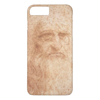Red Chalk, Leonardo da Vinci self-portrait iPhone 8 Plus/7 Plus Case