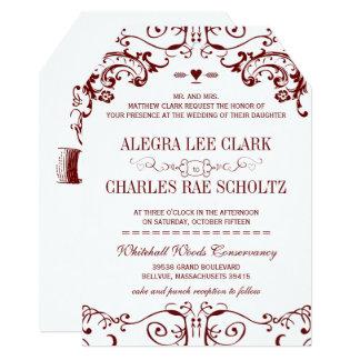 Red Chalkboard Burgundy Wine Typography Invitation
