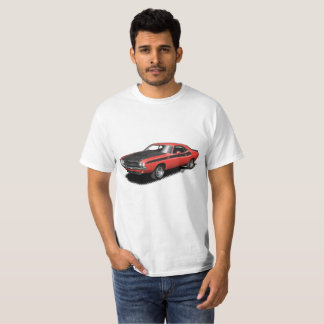 Red Challenger classic car t-shirt