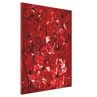 Red Chaos Canvas Print