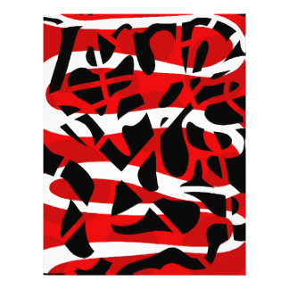 Red chaos customized letterhead
