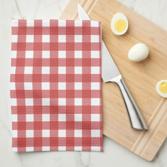 Red Check pattern kitchen towel