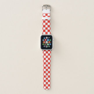 Red Checkerboard Apple Watch Band