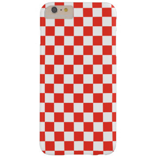 Red Checkerboard Barely There iPhone 6 Plus Case