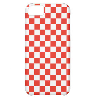 Red Checkerboard Case For iPhone 5C