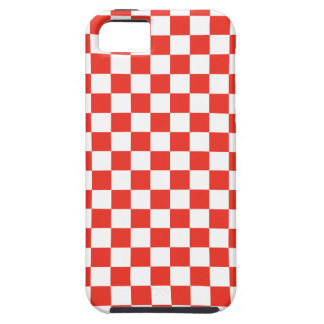 Red Checkerboard Case For The iPhone 5