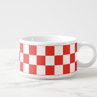Red Checkerboard Chili Bowl