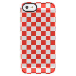 Red Checkerboard Clear iPhone SE/5/5s Case