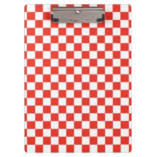 Red Checkerboard Clipboard