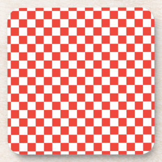 Red Checkerboard Coaster