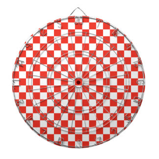 Red Checkerboard Dartboard