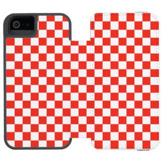 Red Checkerboard Incipio Watson™ iPhone 5 Wallet Case