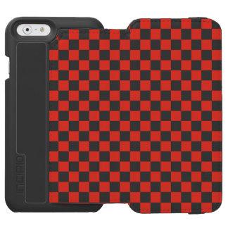 Red Checkerboard Incipio Watson™ iPhone 6 Wallet Case