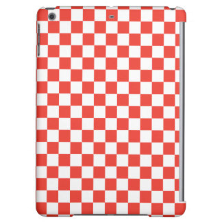 Red Checkerboard iPad Air Covers