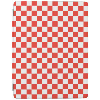 Red Checkerboard iPad Cover
