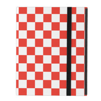 Red Checkerboard iPad Folio Case