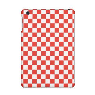 Red Checkerboard iPad Mini Cover