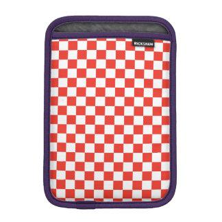 Red Checkerboard iPad Mini Sleeve