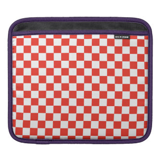 Red Checkerboard iPad Sleeve