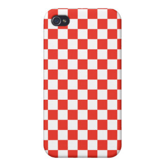 Red Checkerboard iPhone 4 Covers