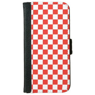 Red Checkerboard iPhone 6 Wallet Case