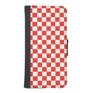 Red Checkerboard iPhone SE/5/5s Wallet Case