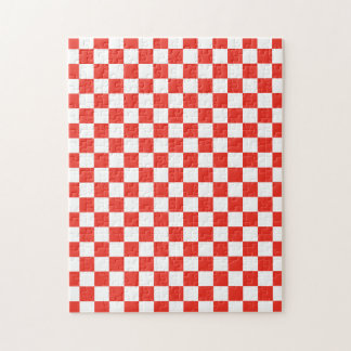 Red Checkerboard Jigsaw Puzzle