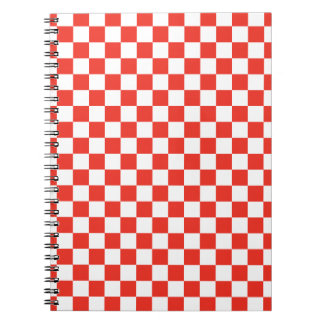 Red Checkerboard Notebooks