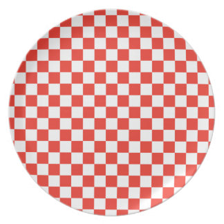 Red Checkerboard Plate