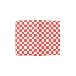 Red Checkerboard Pocket Moleskine Notebook