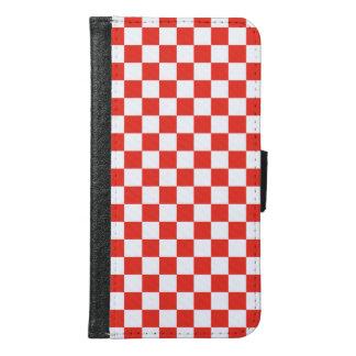 Red Checkerboard Samsung Galaxy S6 Wallet Case