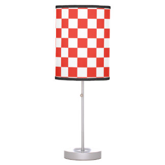 Red Checkerboard Table Lamp