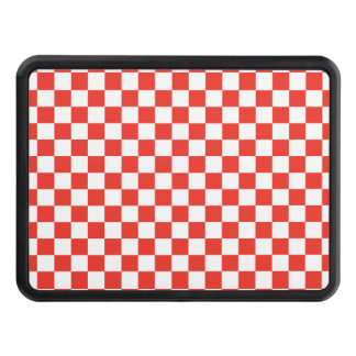 Red Checkerboard Trailer Hitch Cover