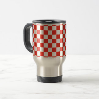 Red Checkerboard Travel Mug