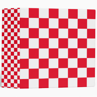 Red Checkered Binders
