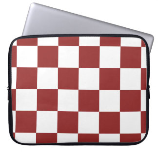 red Checkered Laptop Sleeve